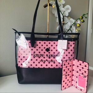 KATE SPADE LARGE 3 COMPARTMENT TOTE & WALLET NWT